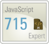 my Smarterer score for JavaScript